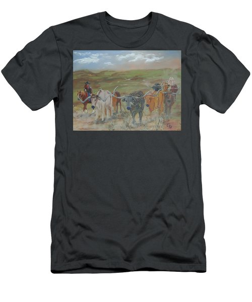 On The Chisholm Trail Men's T-Shirt (Slim Fit)