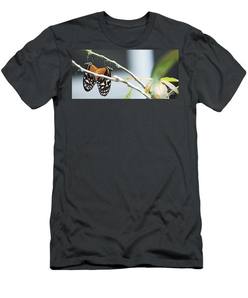 Men's T-Shirt (Slim Fit) featuring the photograph On The Edge by Deborah Klubertanz