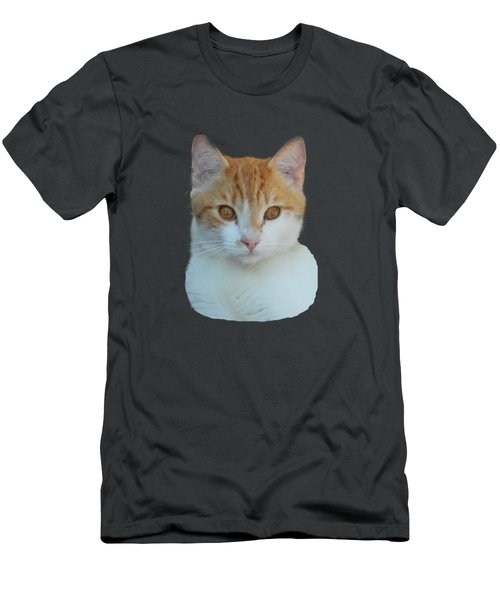 Orange And White Cat Men's T-Shirt (Athletic Fit)