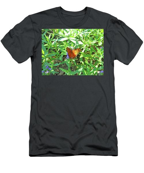 Orange Butterfly Men's T-Shirt (Athletic Fit)
