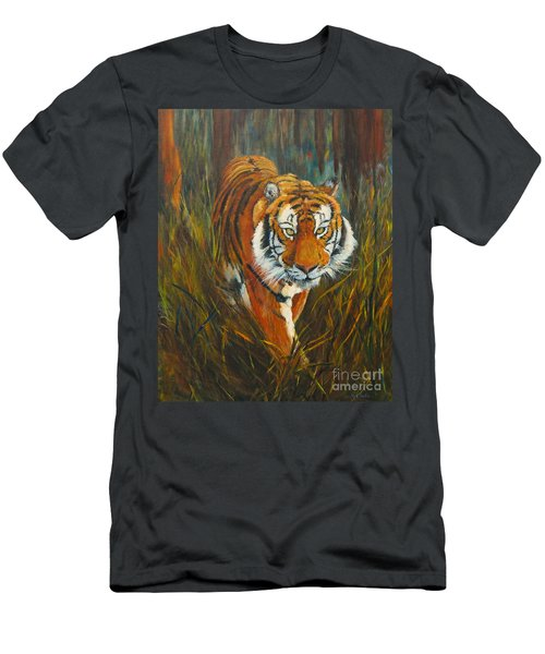 Men's T-Shirt (Athletic Fit) featuring the painting Out Of The Woods by Beatrice Cloake
