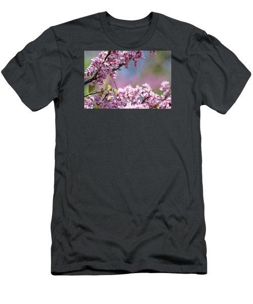 Pastel Blossoms Men's T-Shirt (Slim Fit) by Michele Wilson