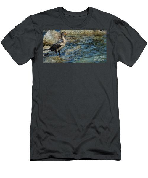 Men's T-Shirt (Slim Fit) featuring the photograph Patiently Waiting by Pamela Blizzard