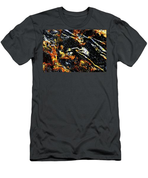 Men's T-Shirt (Slim Fit) featuring the photograph Patterns In Stone - 189 by Paul W Faust - Impressions of Light
