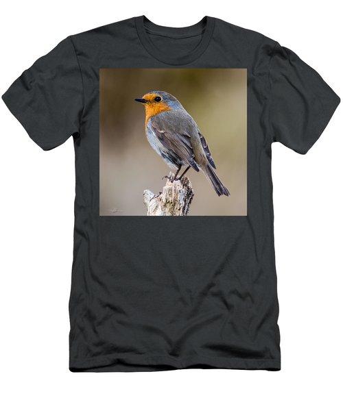 Perching Men's T-Shirt (Slim Fit) by Torbjorn Swenelius