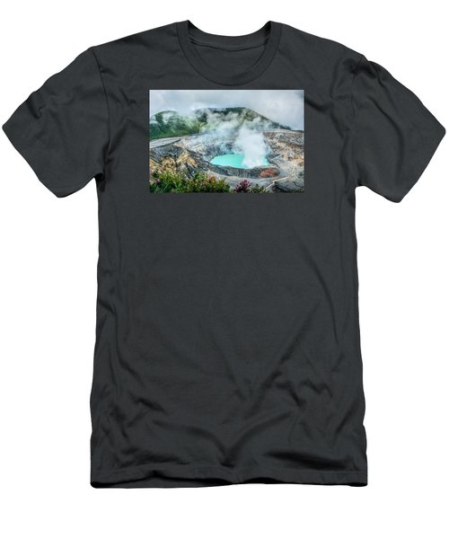 Poas Volcano, Costa Rica Men's T-Shirt (Slim Fit) by RC Pics