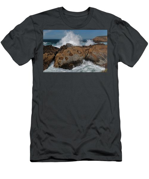Point Lobos' Concretions Men's T-Shirt (Athletic Fit)