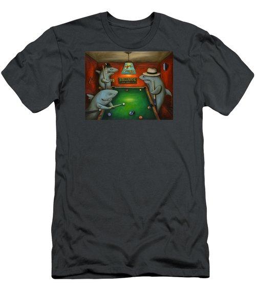 Pool Sharks Men's T-Shirt (Athletic Fit)