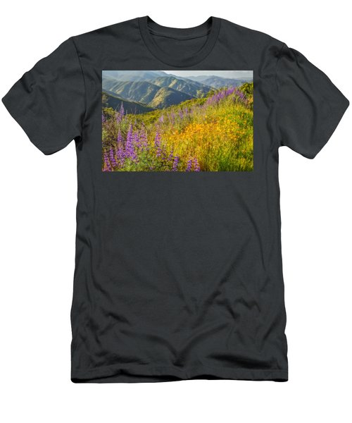 Poppies And Lupine Men's T-Shirt (Slim Fit) by Marc Crumpler