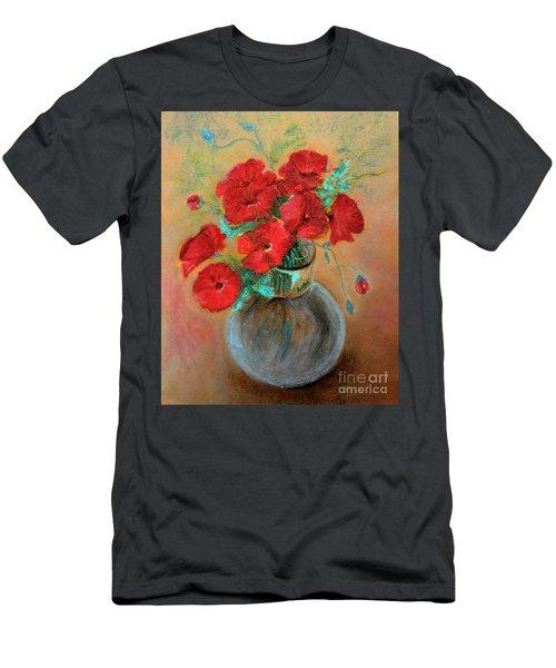 Poppies  Men's T-Shirt (Slim Fit) by Jasna Dragun