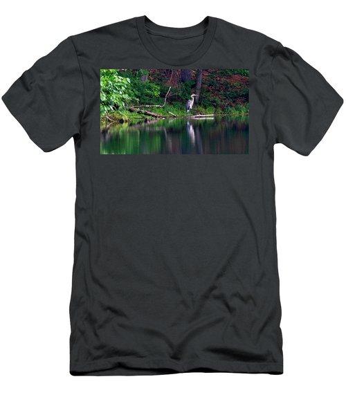 Posing Great Blue Heron  Men's T-Shirt (Athletic Fit)