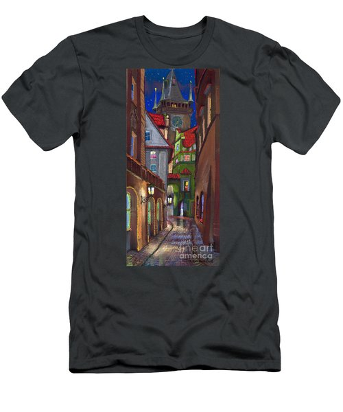 Prague Old Street  Men's T-Shirt (Athletic Fit)