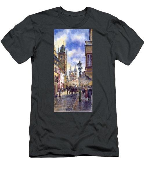 Prague Old Town Square 01 Men's T-Shirt (Athletic Fit)