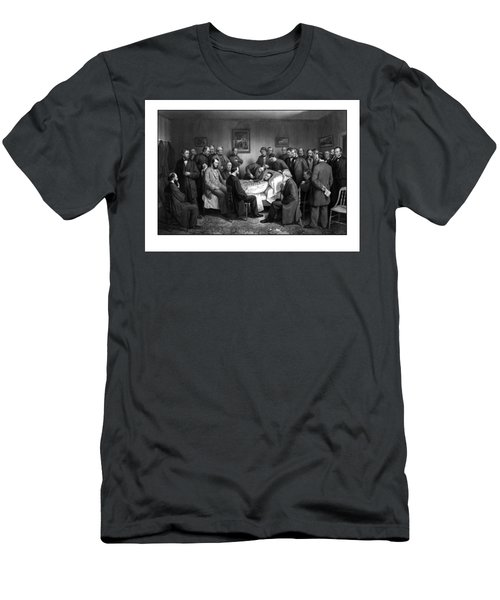 President Lincoln's Deathbed Men's T-Shirt (Athletic Fit)