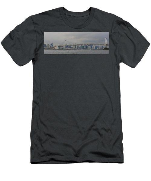 Rainbow Bridge Men's T-Shirt (Slim Fit) by Megan Martens
