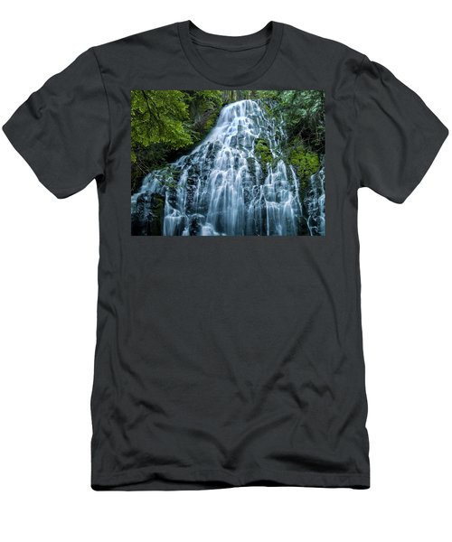 Ramona Falls Cascade Men's T-Shirt (Athletic Fit)