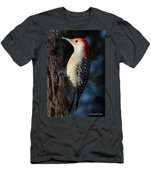 Red-bellied Woodpecker 3a Men's T-Shirt (Slim Fit) by Kenneth Cole