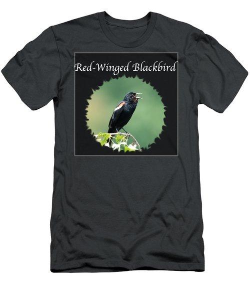 Red-winged Blackbird Men's T-Shirt (Slim Fit) by Jan M Holden