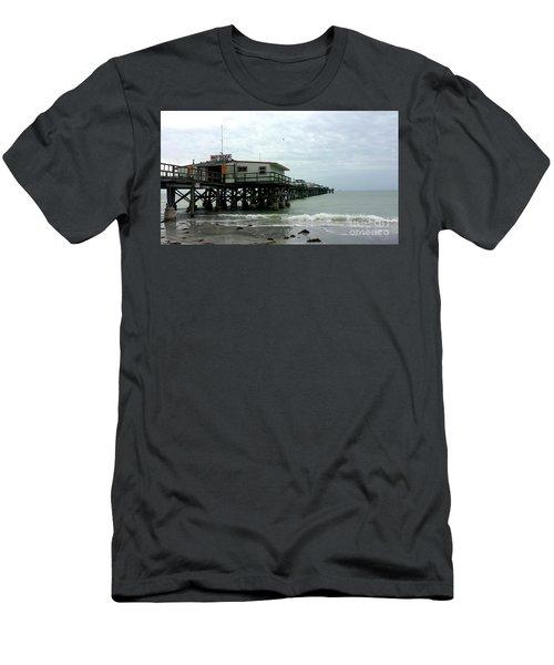 Redington Beach, Florida Fishing Pier Men's T-Shirt (Slim Fit) by Scott D Van Osdol