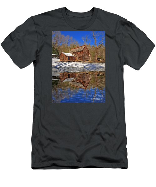 Men's T-Shirt (Slim Fit) featuring the photograph Reflections by Geraldine DeBoer