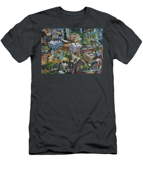Richmond Virginia Cityscape Painting Men's T-Shirt (Athletic Fit)