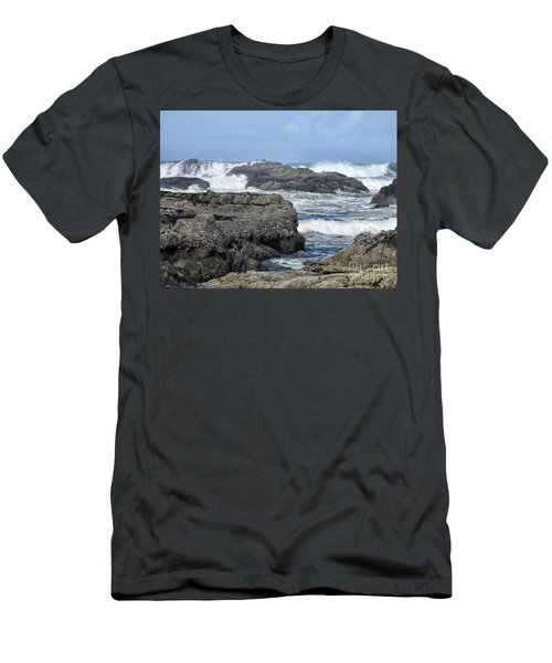 Men's T-Shirt (Athletic Fit) featuring the photograph Roads End by Peggy Hughes
