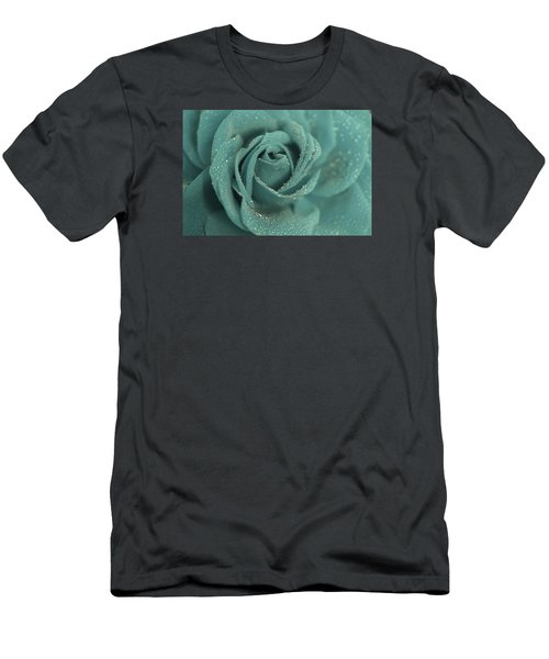 Men's T-Shirt (Slim Fit) featuring the photograph Rose Of Rain by The Art Of Marilyn Ridoutt-Greene