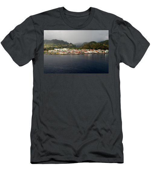 Roseau Dominica Men's T-Shirt (Athletic Fit)