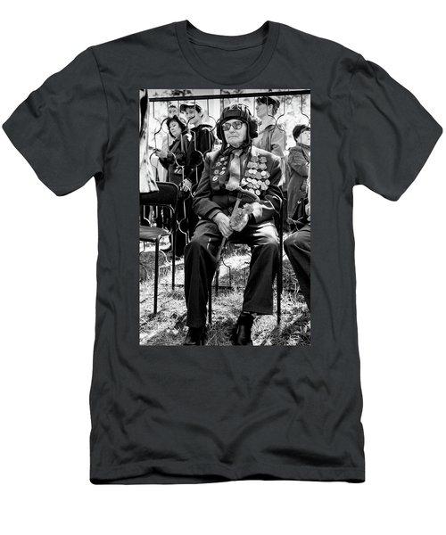 Men's T-Shirt (Athletic Fit) featuring the photograph Russian World War II Veteran Tank Commander by John Williams