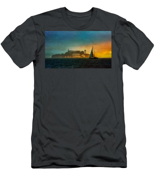 Sailing By Men's T-Shirt (Athletic Fit)