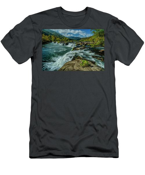 Sandstone Falls New River Men's T-Shirt (Athletic Fit)