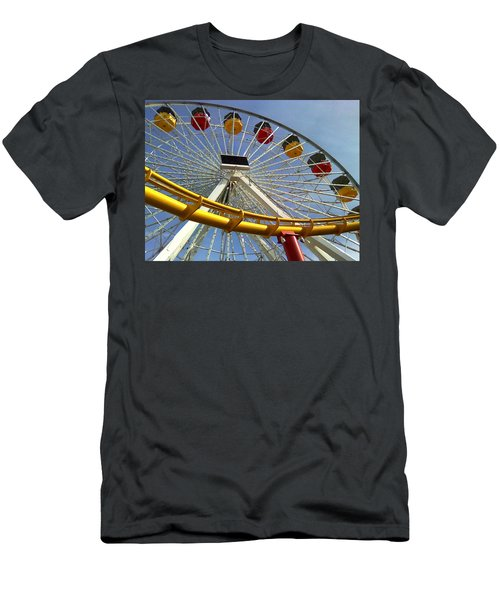Santa Monica Pier Amusement Park Men's T-Shirt (Athletic Fit)