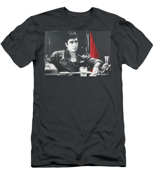 Scarface Men's T-Shirt (Slim Fit) by Luis Ludzska