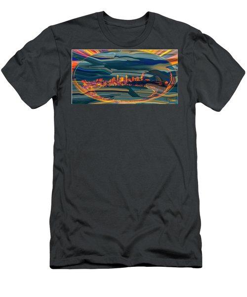 Seattle Swirl Men's T-Shirt (Slim Fit) by Dale Stillman