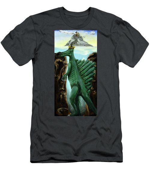 Men's T-Shirt (Athletic Fit) featuring the painting Self-portrait- Meme by Ryan Demaree