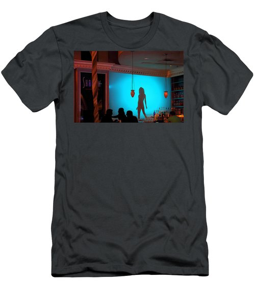 Shadow On The Wall Men's T-Shirt (Slim Fit) by Viktor Savchenko