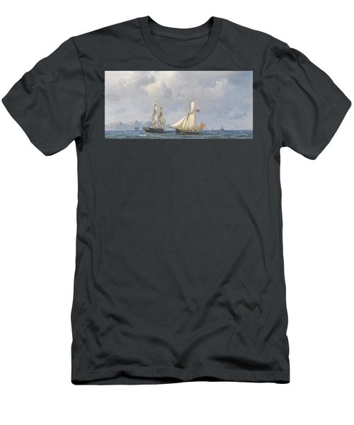 Shipping In Norwegian Waters Men's T-Shirt (Athletic Fit)