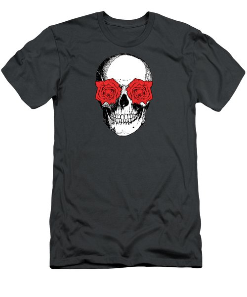 Skull And Roses Men's T-Shirt (Athletic Fit)