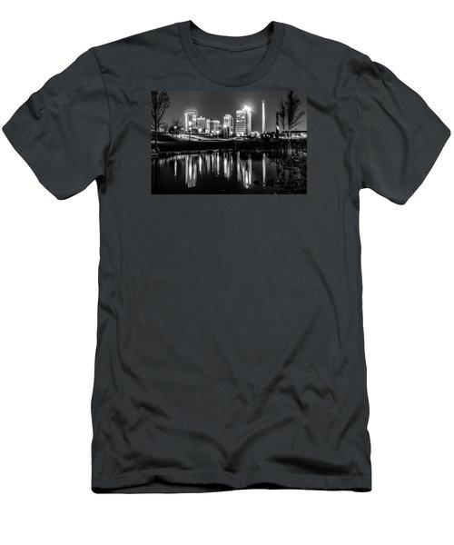 Skyline Of Birmingham Alabama From Railroad Park Men's T-Shirt (Slim Fit) by Alex Grichenko