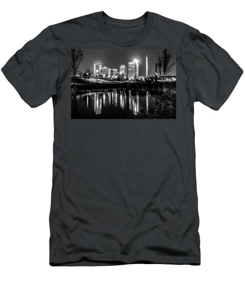Skyline Of Birmingham Alabama From Railroad Park Men's T-Shirt (Athletic Fit)