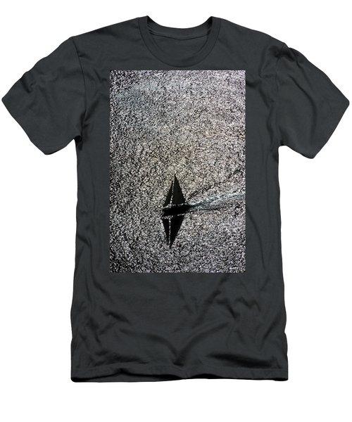 Sailing Into Solitude Men's T-Shirt (Athletic Fit)