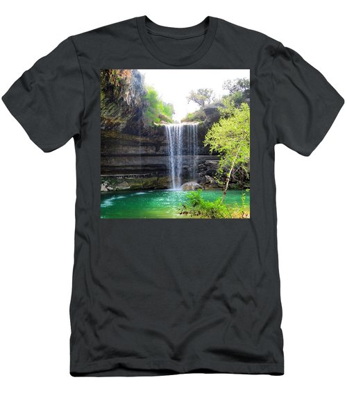 Spent The Day At Hamilton Pool. Yes Men's T-Shirt (Athletic Fit)