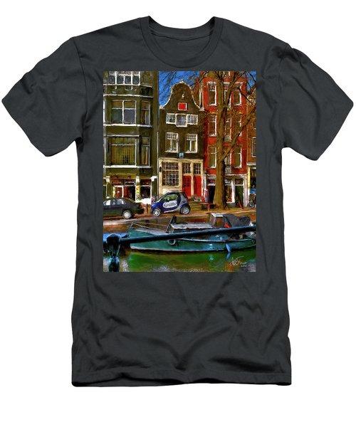 Spiegelgracht 6. Amsterdam Men's T-Shirt (Athletic Fit)