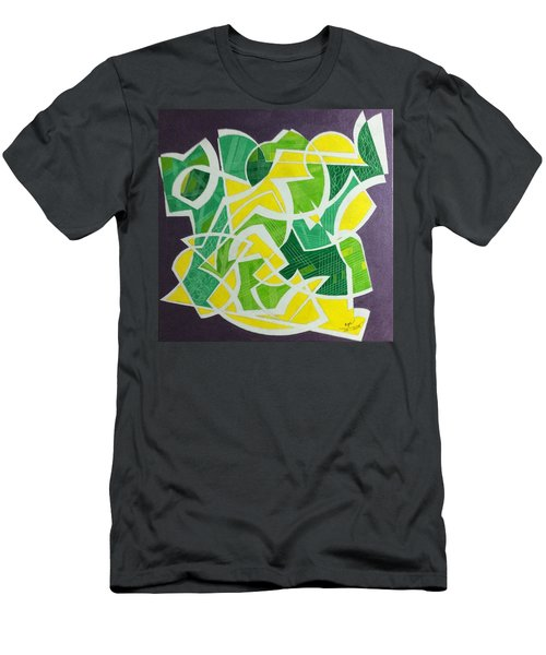 Men's T-Shirt (Slim Fit) featuring the painting Spring by Hang Ho