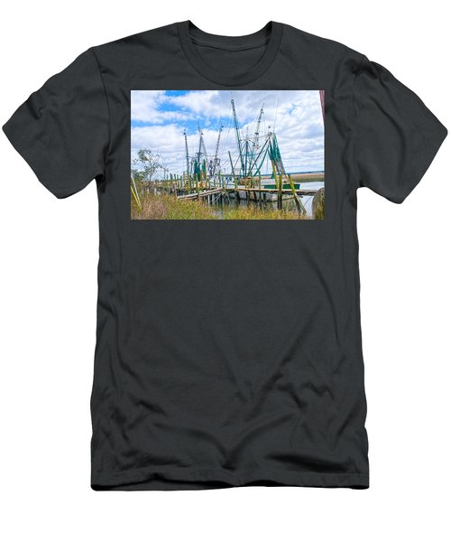 St. Helena Shrimp Boats  Men's T-Shirt (Athletic Fit)