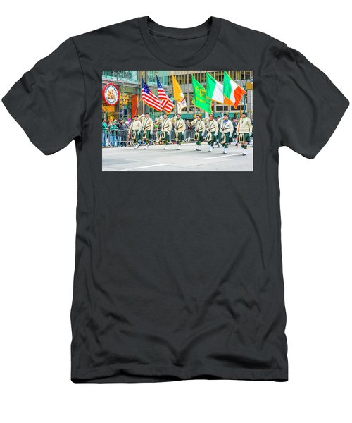 St. Patrick Day Parade In New York Men's T-Shirt (Athletic Fit)