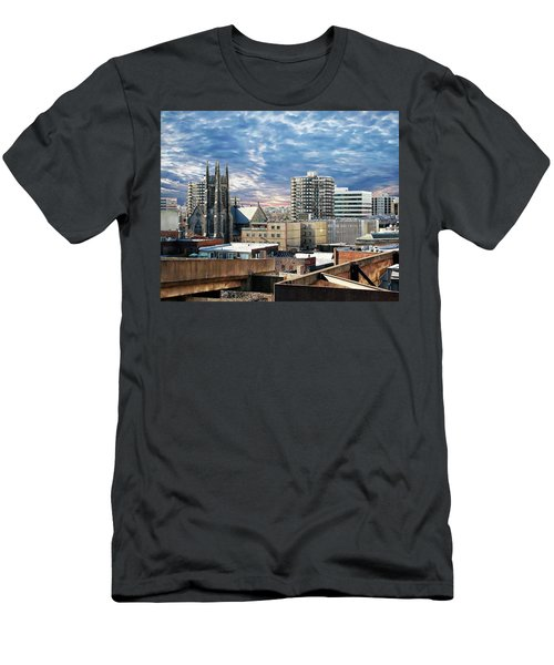 Stamford Cityscape Men's T-Shirt (Slim Fit) by Anthony Dezenzio