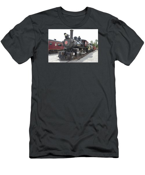 Steam Engline Number 349 Men's T-Shirt (Slim Fit) by Linda Geiger
