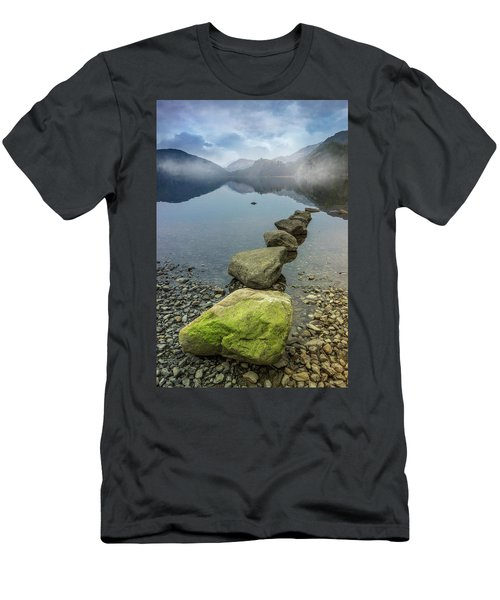 Stepping Stones Men's T-Shirt (Slim Fit) by Ian Mitchell
