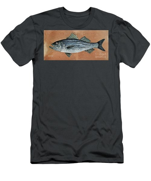 Men's T-Shirt (Slim Fit) featuring the painting Striper by Andrew Drozdowicz
